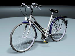 Retro Bike Bicycle 3d model