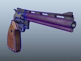 Old Revolver Gun 3d model
