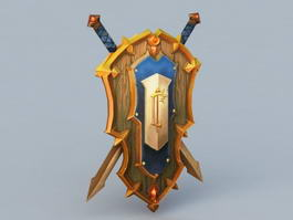 Royal Crest of Lordaeron 3d model