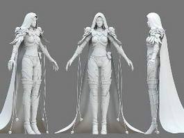 Elf Warrior Girl Concept 3d model