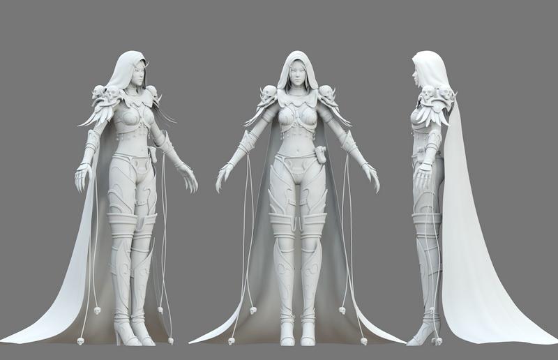 Elf Warrior Girl Concept 3d model