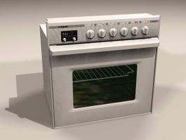 Small Electric Oven 3d model