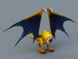 Anime Bat Monster 3d model