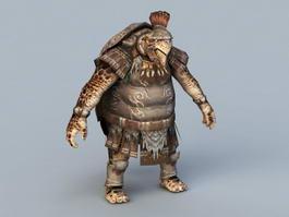 Humanoid Turtle 3d model