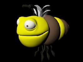 Cute Cartoon Bee 3d model