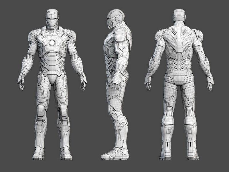 Iron Man Rigged 3d Model 3ds Max Object Files Free
