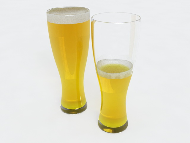 Drinking Beer 3d model