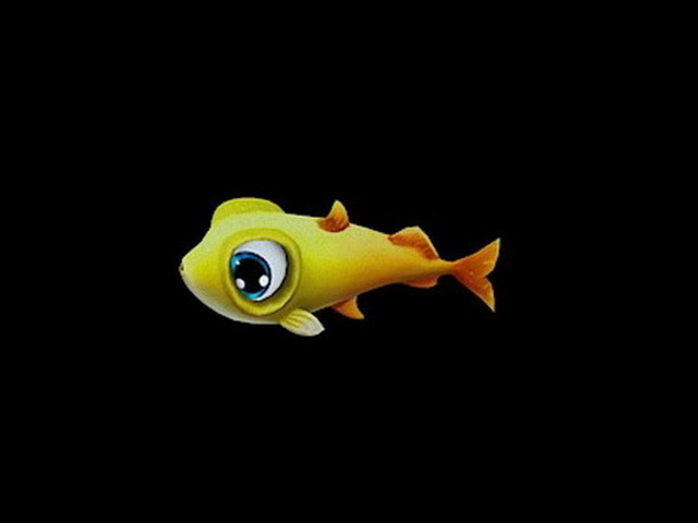 Small Yellow Fish 3d model