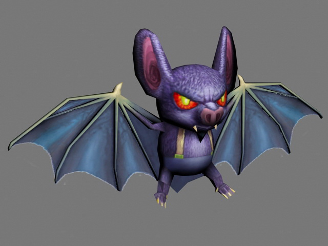 Scary Cartoon Bat 3d model