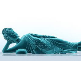 Sleepy Buddha Sculpture 3d model