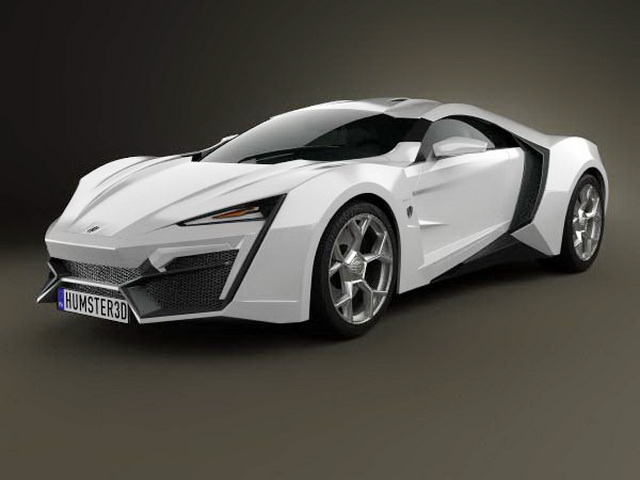 Highly detailed 3d model of Lykan HyperSport supercar 2-door coupe. Available 3d model format: .c4d (Cinema4D) .max (Autodesk 3ds Max) .obj (Object)