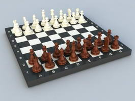 Pieces Chess Sets and Boards 3d model