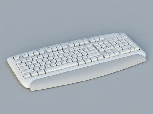 Computer Keyboard 3d model