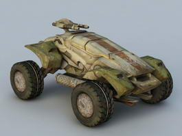 Sci-Fi Military Vehicle 3d model