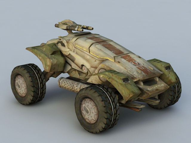 Sci-Fi Military Vehicle 3d model