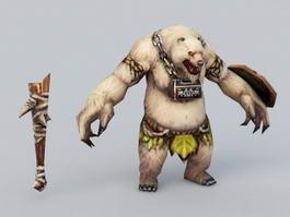 Bear Warrior Concept Art 3d model