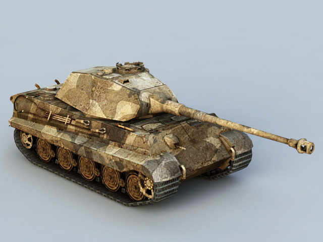 German Tiger II Tank 3d model Autodesk FBX files free download