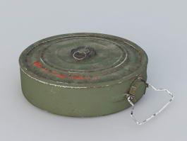 Military Anti-Tank Mine 3d model
