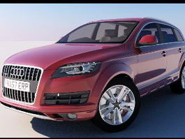 Audi Q7 Red 3d model