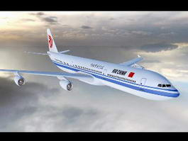 Air China Airline 3d model
