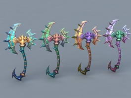Fantasy Battle Axes 3d model