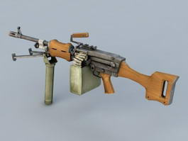 Light Machine Gun 3d model