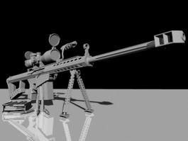 Barrett Sniper Rifle 3d model