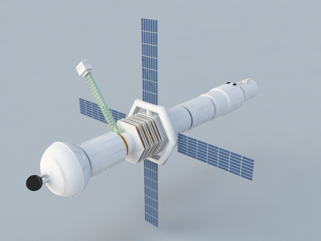 Space Satellite 3d model 3ds Max files free download - modeling