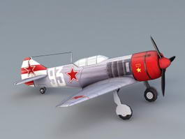 WW2 Soviet La-7 Fighter 3d model