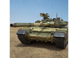Russian T-90 Battle Tank 3d model