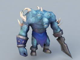 Blue Orc Warrior 3d model