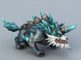 Anime Wolf Monster 3d model