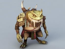 Toad Monster 3d model
