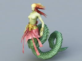 Female Snake Monster 3d model