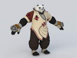 Panda Warrior 3d model
