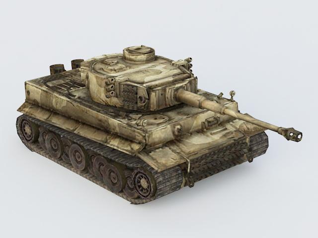 German King Tiger Tank 3d rendering