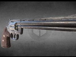 Colt Python Revolver 3d model