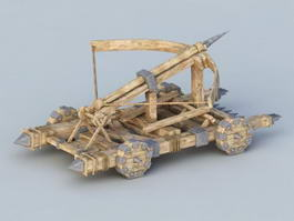 Four-wheeled Carroballista 3d model