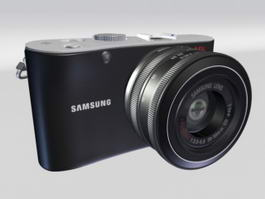 Samsung NX100 Camera 3d model
