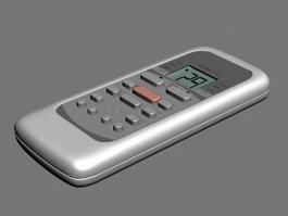 Air Conditioning Unit Remote Control 3d model