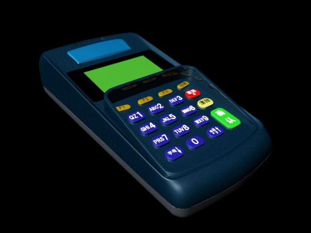 POS Terminal Machine 3d model