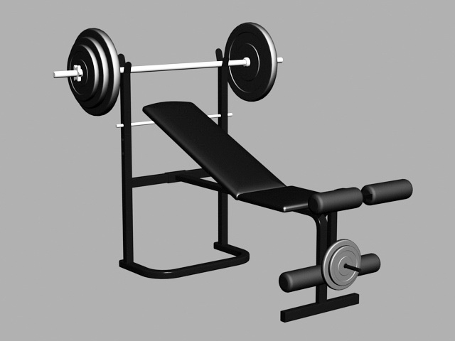 Gym Weight Bench 3d Model Object Files Free Download