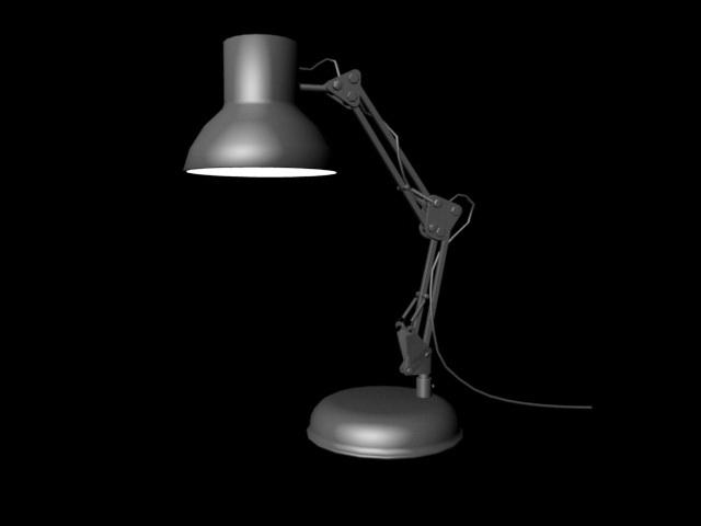 Vintage Industrial Table Lamp 3d model Maya files free download