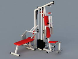 Commercial Gym Equipment 3d model