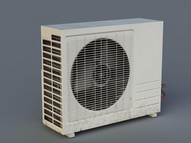 External Air Conditioner Unit 3d Model 3d Studio Files