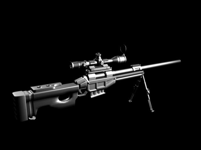 CS LR4 Sniper Rifle 3d model