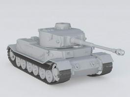 Porsche Tiger Tank Vk4501 P 3d model