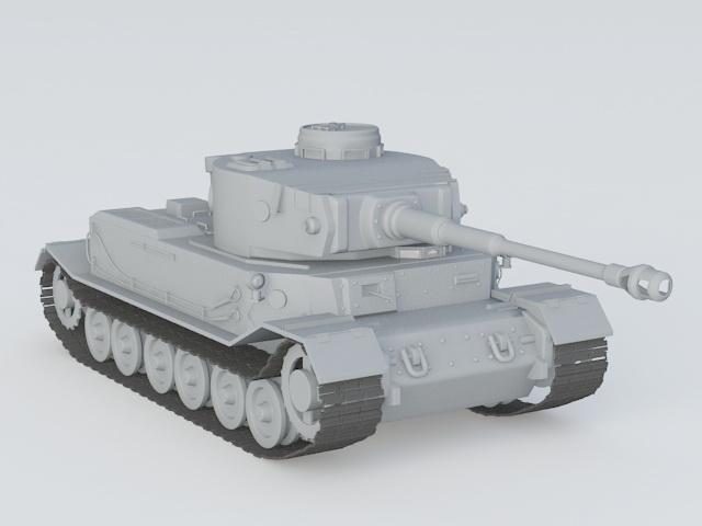 Porsche Tiger Tank Vk4501 P 3d model 3ds Max files free download
