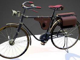 Vintage Postman Bike 3d model