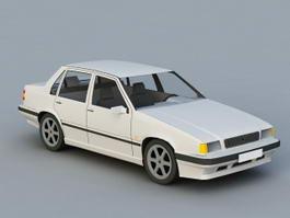 80S Sedan Car 3d model